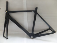 51cm 54cm 57cm Size 700c carbon fiber road bike frame Free 1 year warranty BSA system bicycle frame with the fork