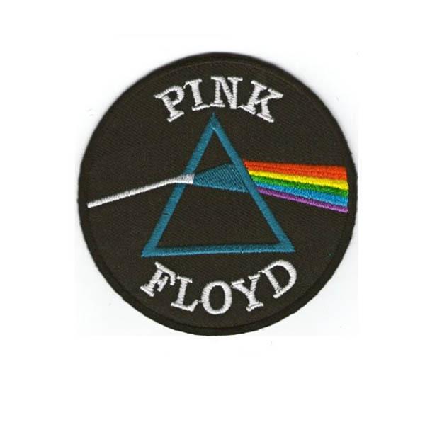 3inch,Free shipping,Pink Floyd Rock Band Embroidered Symbol Badge Embroidery Patch,100pcs/bag,MOQ50pcs,Heat Cut,PVC backing(China (Mainland))
