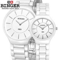 New Famous Brand Luxury Binger Ceramic Dial Bracelet Quartz Wrist Watch Christmas Gift for Ladies Women Couple Gold Watches
