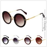 2015 New Brand Design Super Cool Eyewear Round Sunglasses Women  Round Metal Sun Glasses Oculos De Sol Feminino Gafas With LOGO
