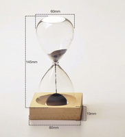 Magnet Hourglass/Magnetic Hourglass Hourglass Timer With Wooden Base Home Decor