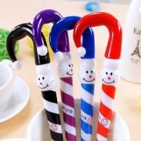 2015 hot Cartoon snowman Christmas ball pen The umbrella pen Lovely ball pen Students present free shipping
