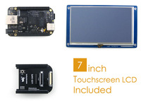 BeagleBone Black Rev C 512MB DDR3 4GB 8bit eMMC 1GHz ARM Cortex-A8 Development Board Kit + 7inch LCD Screen + LCD Cape + Cables