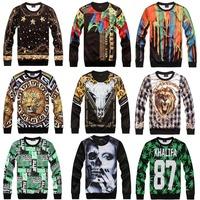 [Magic] Hot European and American popular 3D clothing both side print casual sweatshirt men hoodies new 21models free shipping
