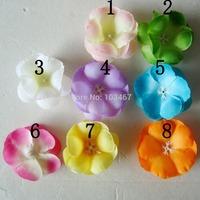 newest 4.7'' dot chiffon flower 10 colors 50pcs/lot