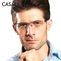 Casato Titanium Fashion Frame Glasses Men Eyeglassses Half Frame Myopia Glasses Brand