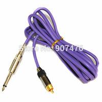 New RCA Silicone Tattoo Machine Power Clip Cord Supply Purple Color