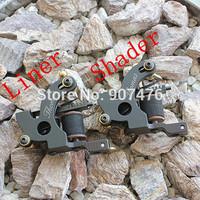 Cast-iron Handmade Tattoo Machine Gun  For Shader Liner 2pcs