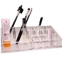 16-Grid Cosmetic Makeup Nail Polish Acrylic Display Stand Rack Holder Organizer Lipstick Frame Stage Nail Tool Nail Art  F0271