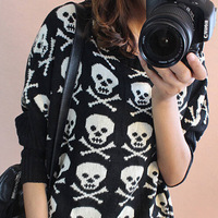 fashion pullovers sweater Women long sleeve Knitted Sweater printed outerwear Girls clothes Female image novelty sales