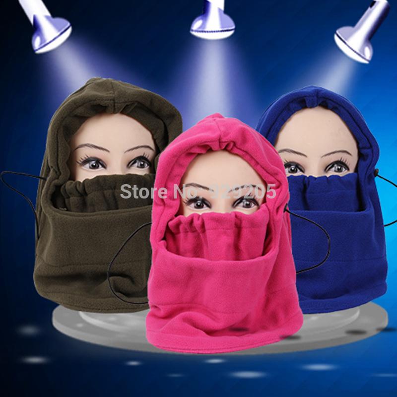 winter hat for men bone women beanies earmuffs plush winter face mask outdoor muffler bib thickening one piece scarf(China (Mainland))