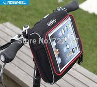 NEW ROSWHEEL iPad flatbed folding bicycle handlebar bag Cycling MTB Bike Bicycle bag Frame Front Tube Bag Bicycle Accessories