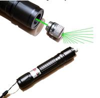 532nm Green Laser Pointer Pen Adjustable Focus Visible Beam  black Match Lighter
