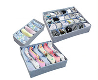 Fashion Bamboo Charcoal Bra Underwear Socks Storage Box 3pcs/Set Moistureproof Antibiosis taste removal Home Storage
