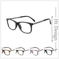 2015 Retro Women Fashion Brand Design Unisex Clear Lens Nerd Geek Optical Radiation Protection Glasses Glasses Eyewear gafa