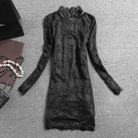 Brand new 2014 fashion Winter women's long-sleeve medium-long plus velvet lace slim casual  shirt  free shipping