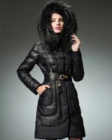 Winter Coat Women NEW 2014 Winter Jacket Women Luxury Fur Hooded Duck Down Coats Slim Thickening Frozen Down Jackets Parkas