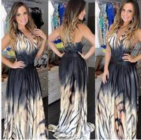 vestidos 2014 women long maxi dress print prom dress vestido de festa party dress frozen mulheres se vestem casual dress D19