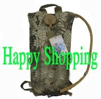 3L Rattlesnake Camo hydration backpack water bag with bladder shoulder Strap
