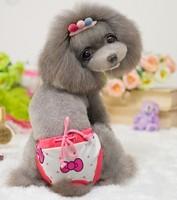 2014 New Dog Physiological Pants Bow Tie Star Design Pet Clothes Soft Cotton Dog Underwear  Pet Clothes Wholesale MOQ 10pcs