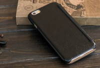 30X Brand HOCO 4.7'' Case For iPhone 6 Top Quality Genuine Leather Flip Covers Case For iPhone 6 With Pocket DHL Free Shipping