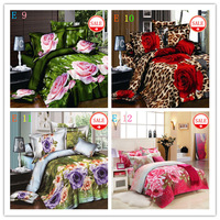 Home textiles, family cotton 3D bedding set, reactive bedclothes, 3D bed set design king size, free shipping!