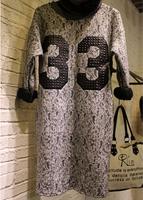 New arrival personality fashion casual loose dresses for women 2015 autumn winter European big brand design hot sale vestidos