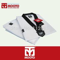 [Maria's] All White Embroidery Stripe Fabric Taekwondo Uniform Men Women Tae Kwon Do Dobok Clothes free shipping