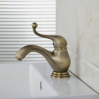 Basin Faucet Bacia Torneira Retro Waterfall Deck Mounted Single Handle Antique Brass 8648 Bathroom Basin Faucets,Mixers & Taps