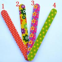 free shipping 50pcs/lot 4 kinds of color nail art Nail styling tools manicure nail file sand bar 180 * 20MM