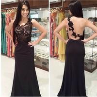 vestidos 2014 new explosions v-neck sleeveless lace Halter dresses vestido de festa women dress vestidos femininos