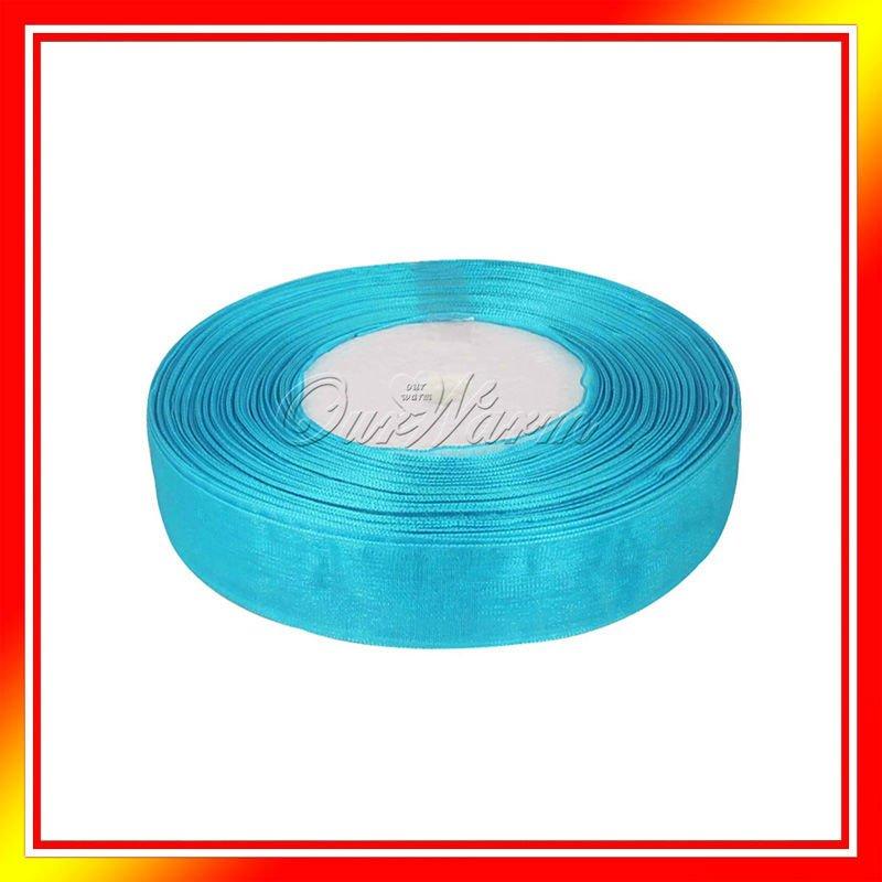 Подарочая лента OurWarm , Aqua Blue 1 50 5/8 15 OGB-15-AQB-50Y подарочая лента ourwarm 1 50 3 8 10 ogb 09 lvd 50y