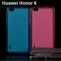 Free Shipping Soft TPU Gel Cover Case Skin for Huawei Honor 6 / Glory 6 High Quality Phone Cases