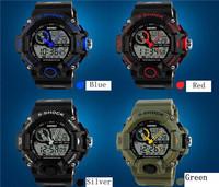 NEW 50M Waterproof watch Men S -Shock Multifunction Wristwatch LED Digital Date Alarm Rubber Sports watch EL backlight function