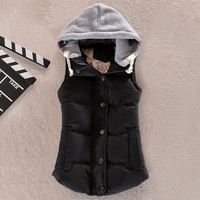 Free shipping cheap sale discount vest 2014 new winter lady high-quality peach all-match slim down cotton vest warm outerwear