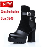 2014 New England winter boots Knight Martin boots women leather high-heeled boots for women