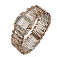 New 2014 Fashion Gold Rose Quartz Business Wrist Watches For Women 86010