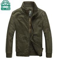 NianJeep 2015 Cotton Casual Jackets Real Men's Choose Coats Sports Cardigan Zip Jackets Outdoor Basic Jackets