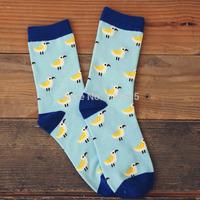 New fashion cotton socks unisex men and women cartoon bird print socks couples casual socks 2 pairs 52272