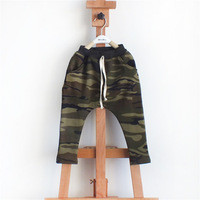 Retail 2-8T Kids Pants Korean Popular Style Baby Clothes For Childrens Camouflage Harem Pants Soft Boys Leggings WB-20