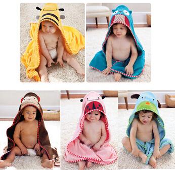 Towels!new cartoon animal baby hooded bathrobe/bath towel/bath terry.bathing robe for children/kids/infant baby bathrobe K172(China (Mainland))
