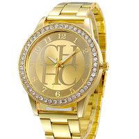 2014 New Fashion Brand Rose Gold Steel Watches Men Quartz Watch Women Dress Wristwatches Analog Rhinestone Ladies Free Shipping