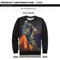 Tide brand new 2015 spring European and American male and female couple sweater 3D digital on the 24th hedging coat male
