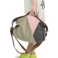 2014 women's handbag fashion handbag cross-body bag canvas casual all-match fashion color block decoration big bag