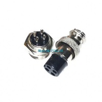 Free Shipping 10pair 4Pin Male & Female Diameter 16mm Wire Panel Connector GX16 circular connector Socket Plug GX16-4PIN