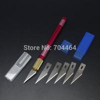 Aluminum Graver Burin Blade Set Knife Kit DIY Carving Craft PCB Art Wallpaper  Red color