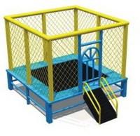 small kids square trampoline