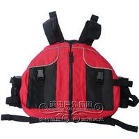 Adult professional snorkeling life jacket pirog inflatable boat life vest red