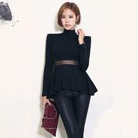 Mockneck Eyelash A-Line Mesh Sheath Long Sleeve Basics Sweaters in Women Clothing in Apparel & Accessories Flounce338740362