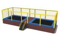 kids 2 beds rectangular trampoline